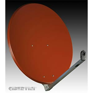 SAT dish, 85 cm, red brown (RAL 8012) GIBERTINI OP85L