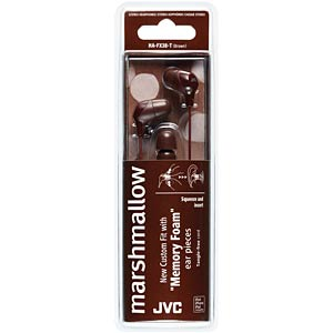 Inner ear headphone / brown JVC HAFX38TE