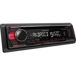 USB / CD-Receiver mit roter Tastenbeleuchtung KENWOOD KDC110UR