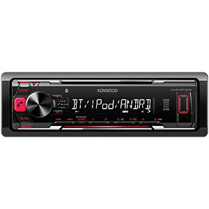 DMR/BT/USB/Android/Apple/AUX/VV/stuurafstandsbediening./rood KENWOOD KMMBT203