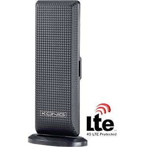 Design DVB-T indoor antenna with LTE filter KÖNIG KN-DVBT-IN52L