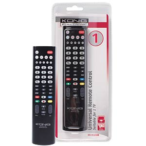 Universal remote control for 1 TV KÖNIG KN-RCU10B