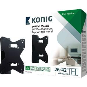 TV Wandhalterung, neigbar, schwenkbar, 26- 42, schwarz KÖNIG KNM-MFM10