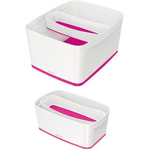 Leitz MyBox, längliche Aufbewahrungsschale, weiß/pink LEITZ 52581023