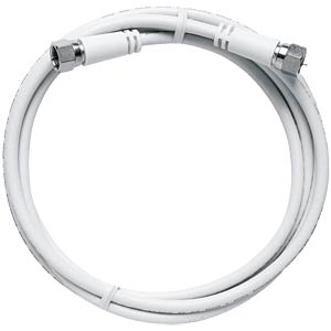 Modem connection cable, axial F-connectors, 7.50 m AXING MAK75080