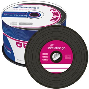 Mediarange CD-R 80min, Vinyl-Optic, 50-er Cakeb MEDIARANGE MR225