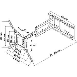 Wandhalter für LCD TV 26 - 47 MYWALL H18-2L