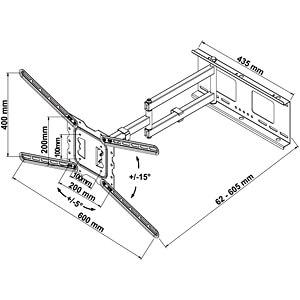 Wandhalter für 26 - 60 MYWALL H18-3L