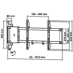 motorisierte TV-Wandhalterung, 26 - 47 MYWALL HP 22 L