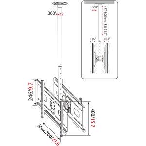 Deckenhalter für 37 - 63 MYWALL HP3L