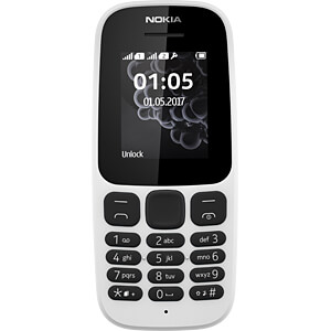 Mobiltelefon, Dual-SIM, weiß NOKIA A00028535