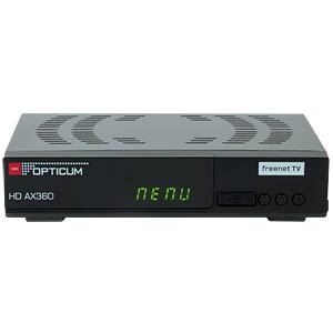 DVB-T2 receiver with PVR (freenet TV) OPTICUM RED AX 360 PVR