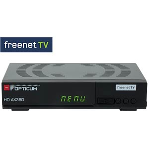 Receiver, DVB-T2, HDTV, PVR, freenet TV OPTICUM RED AX 360 PVR