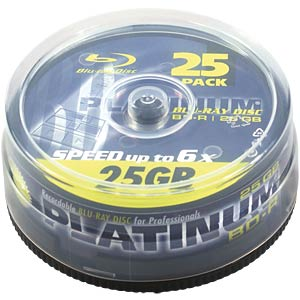 BD-R, 25 GB, 25er Spindel PLATINUM 100452