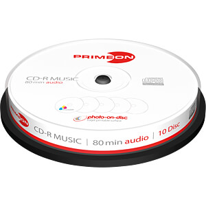 CD-R 80Min/AUDIO, 10-er Cakebox PRIMEON 2761111