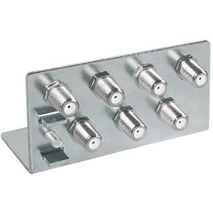 Earthing bracket with 7x F-double sockets AXING QEW00700