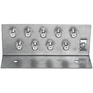 Earthing bracket with 9x F-double sockets AXING QEW00900