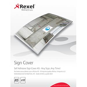 Self Adhesive Sign Covers A5 (10) REXEL 2104250