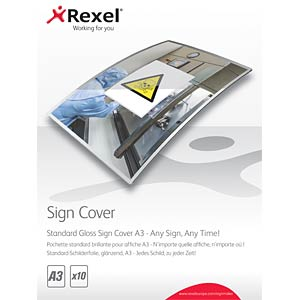 Standard Gloss Sign Covers A3 (10) REXEL 2104254