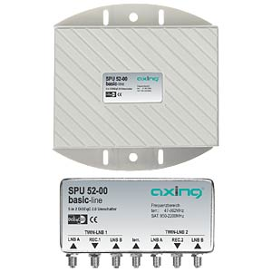 Axing twin-capable DiSEqC 2.0 switch AXING SPU05200