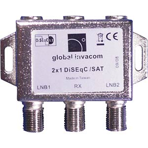 2 x 1 DiSEqC switch GLOBAL INVACOM
