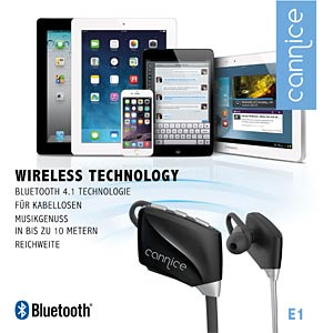 Cannice E1 - Bluetooth Earphone, Black CANNICE SC1301