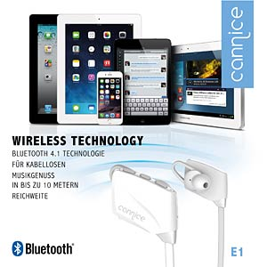 Bluetooth oortelefoon, wit CANNICE SC1302