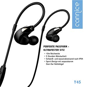 Bluetooth Ohrhörer, In-Ear, schwarz/Gold CANNICE SC1412