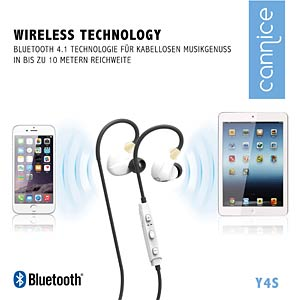 Bluetooth Ohrhörer, weiß/Gold CANNICE SC1413