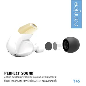 Bluetooth Ohrhörer, In-Ear, weiß/Gold CANNICE SC1413