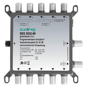Programmierbarer Unicable II Kaskadenbaustein AXING SES553209