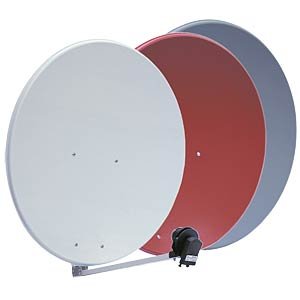 SAT dish, 85 cm, light grey (RAL 7035) GIBERTINI OP85L