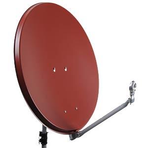 SAT satellite dish, 75 cm, red DUR-LINE 12082