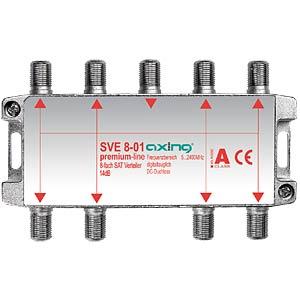 SAT-Verteiler, 8-fach, 12 - 18 dB AXING SVE00801