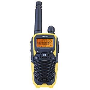 PMR Funkgeräte Set IPX2 schwarz-gelb SWITEL WTF5700