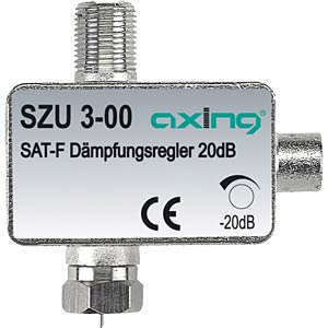 Adjustable attenuator, F-connectors AXING SZU00300
