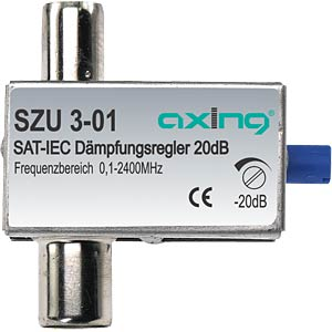 Adjustable attenuator, IEC connections AXING SZU00301