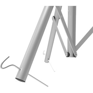Dreibein Sat Stativ premium Stahl OPTICUM RED 4353
