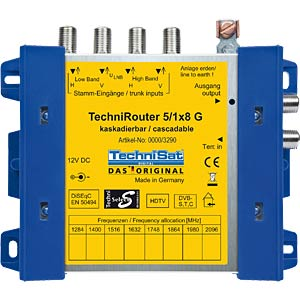 Technisat TechniRouter 5/1x8G basic unit TECHNISAT 0001/3290