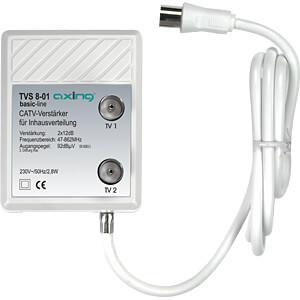 Geräteverstärker für 2 Geräte, 2 x 12 dB AXING TVS00801