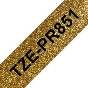 laminiertes Schriftband, schwarz auf premium-gold, 24 mm BROTHER TZEPR851