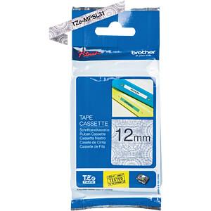 Labelbandcassette 12mm BROTHER TZE-MPSL31