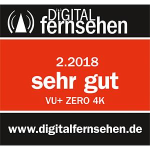 Receiver, SAT, DVB-S2, Linux, UHD, schwarz VU+ ZERO 4K