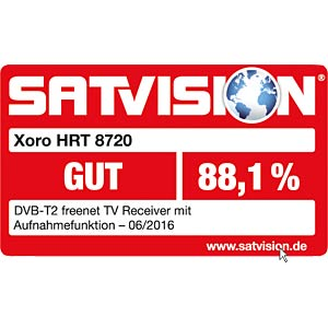 Receiver, DVB-T2, full HD, PVR, freenet TV XORO SAT100499