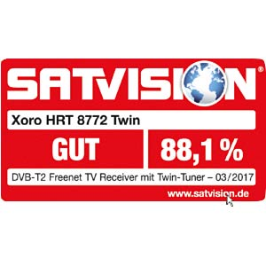 Receiver, DVB-T2, full HD, PVR, freenet TV XORO SAT100578