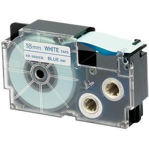 blau auf weiß, 18 mm Breite CASIO XR-18WEB1