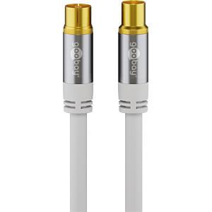 Antennenanschlusskabel (IEC) (135 dB typ) 4x geschirmt, 2,0 m GOOBAY 70317