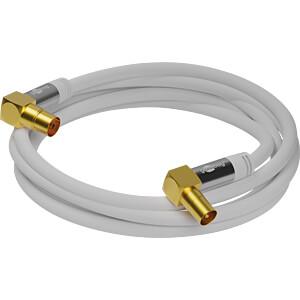 Antennenanschlusskabel (IEC) (135 dB typ) 4x geschirmt, 1,0 m GOOBAY 70411