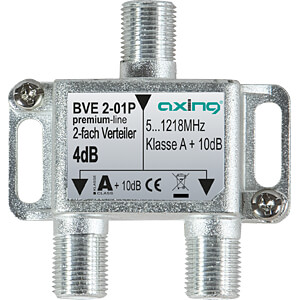 BK-Verteiler, 2-fach, 3,3 - 3,9 dB AXING BVE00201P