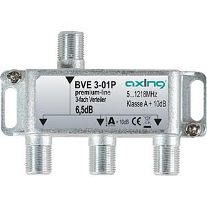 BK-Verteiler, 3-fach, 5,2 - 6,3 dB AXING BVE00301P